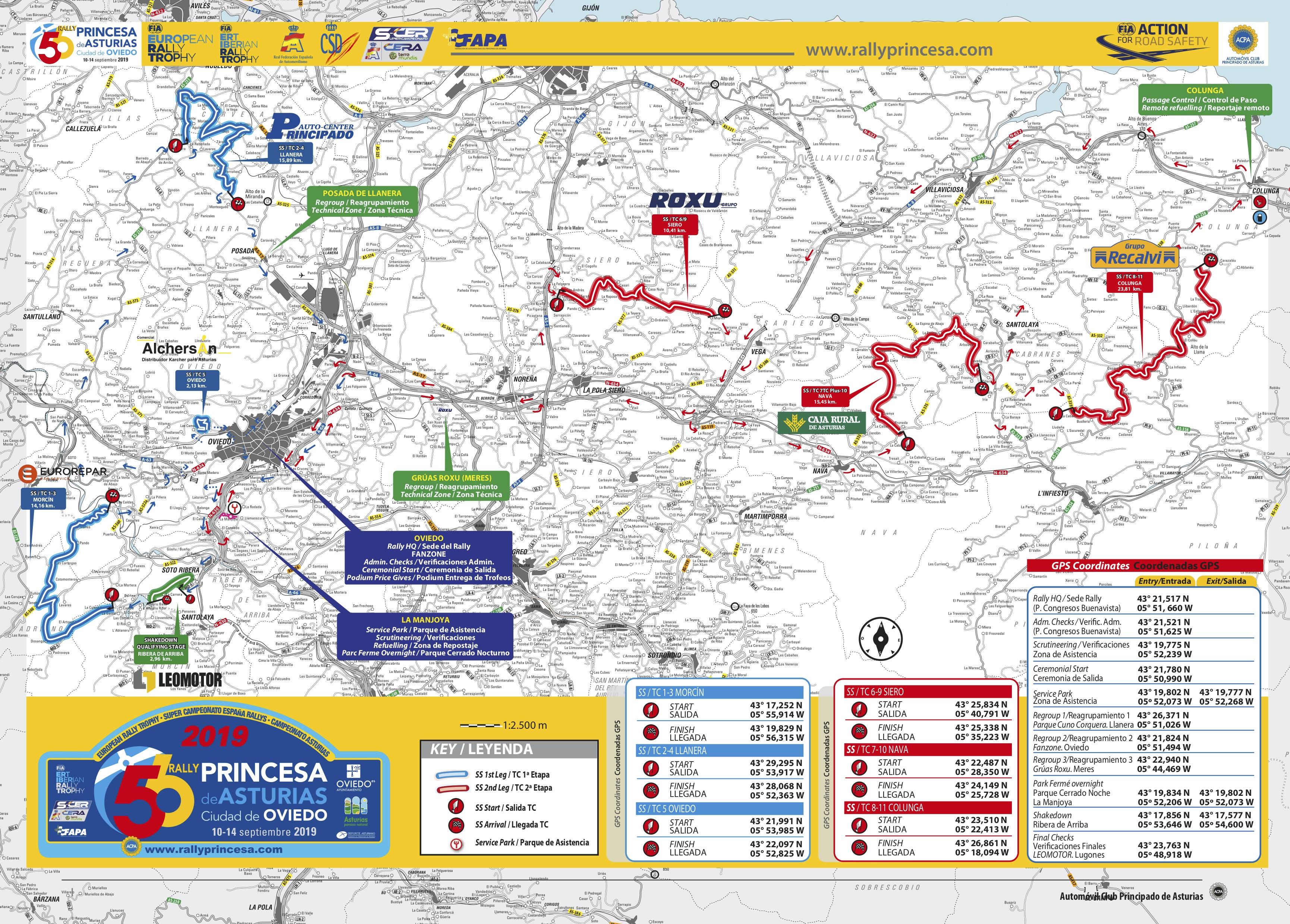 SCER + CERA: 56º Rallye Princesa de Asturias - Ciudad de Oviedo [10-14 Septiembre] MAPA-FIA-RPA-2019