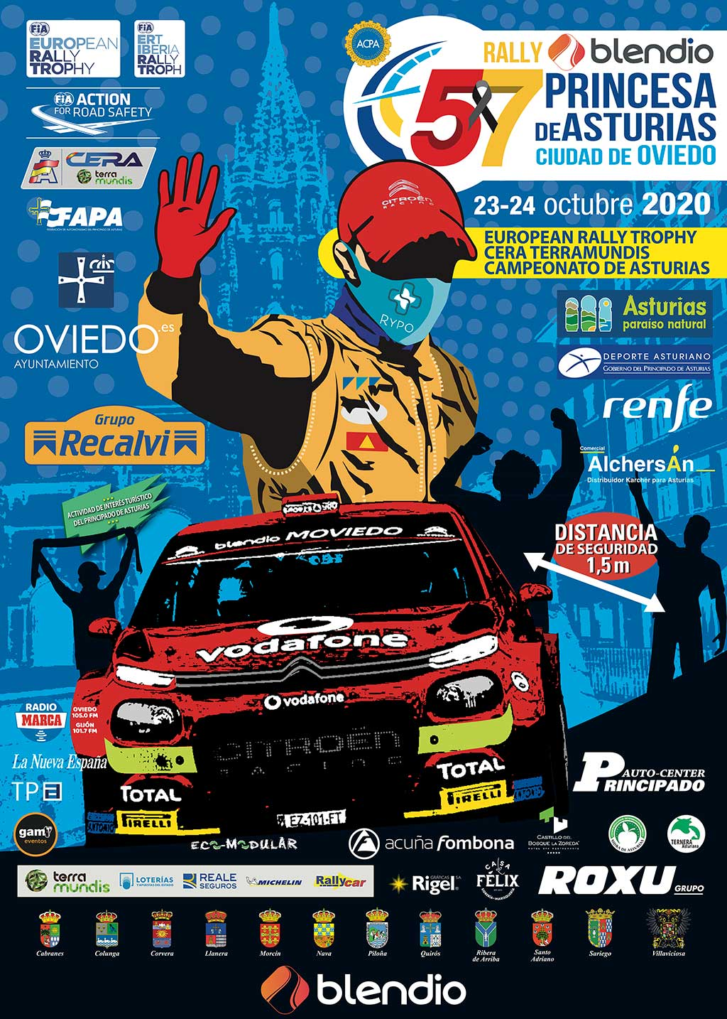 CERA + ERT: 57º Rallye Princesa de Asturias - Ciudad de Oviedo [23-24 Octubre] Cartel